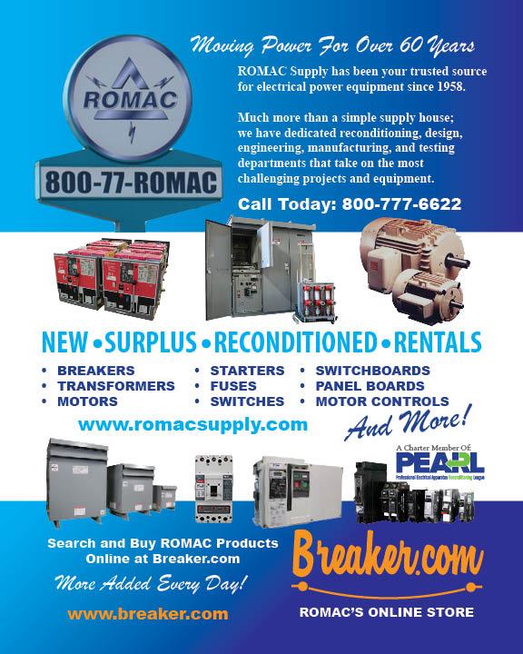 ROMAC's July Print Ad - Moving Power for Over Sixty Years.